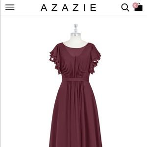 Azazie Cabernet Dress